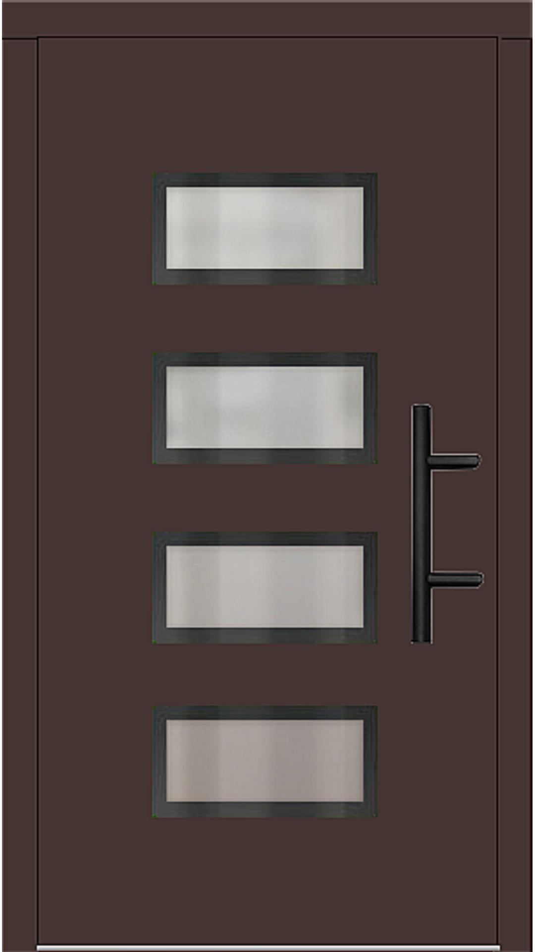 Holz Haustür Modell 70540 mahagonibraun