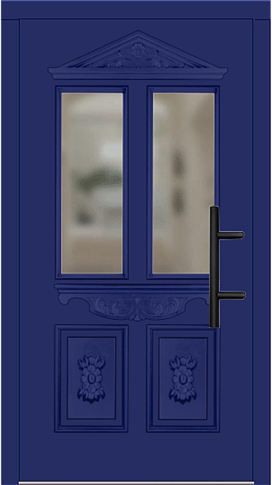 Holz Haustür Modell 7055 ultramarinblau