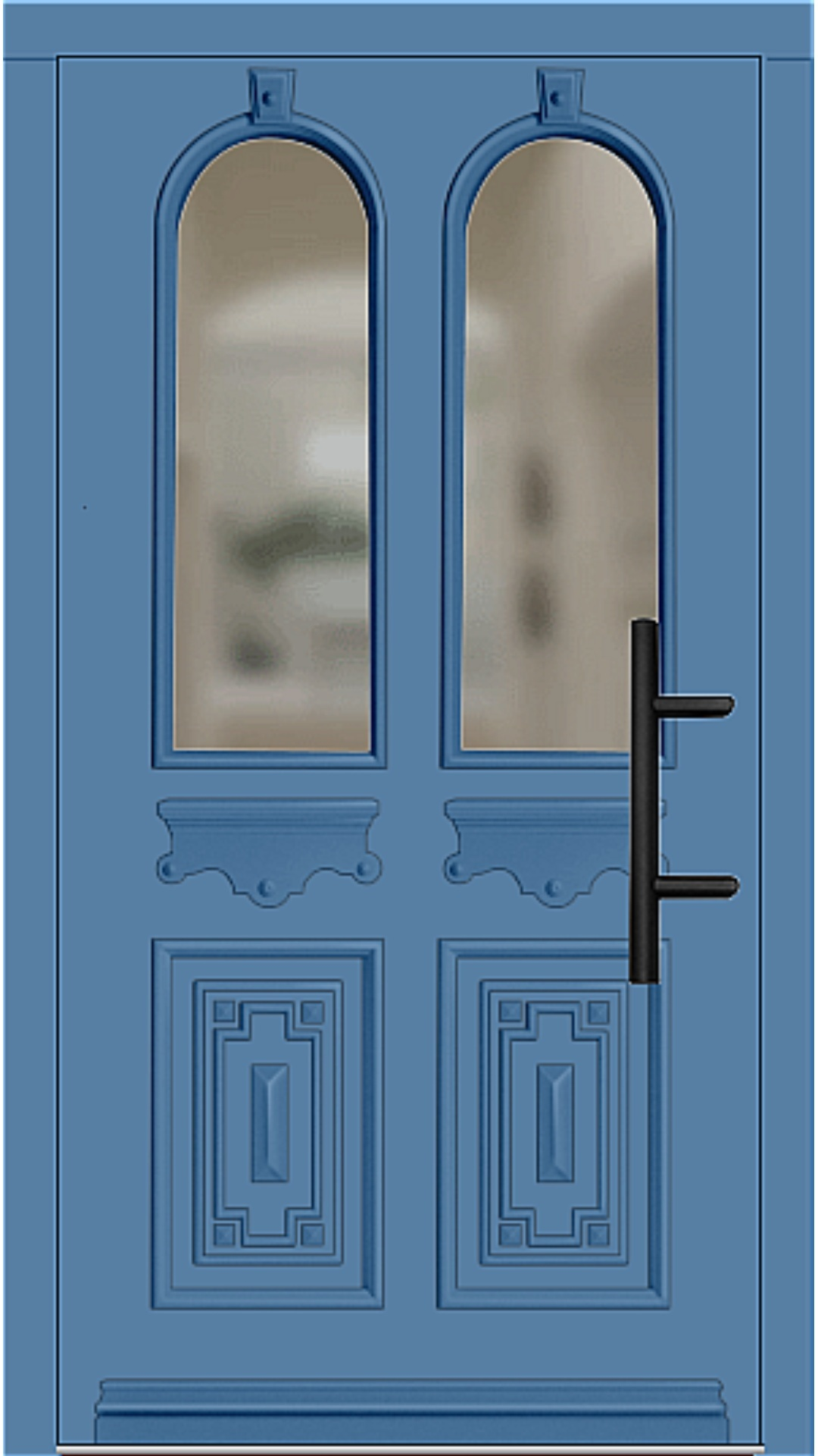 Holz Haustür Modell 7060 lichtblau