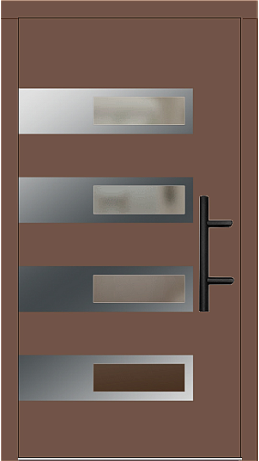 Holz Haustür Modell 70660 lehmbraun