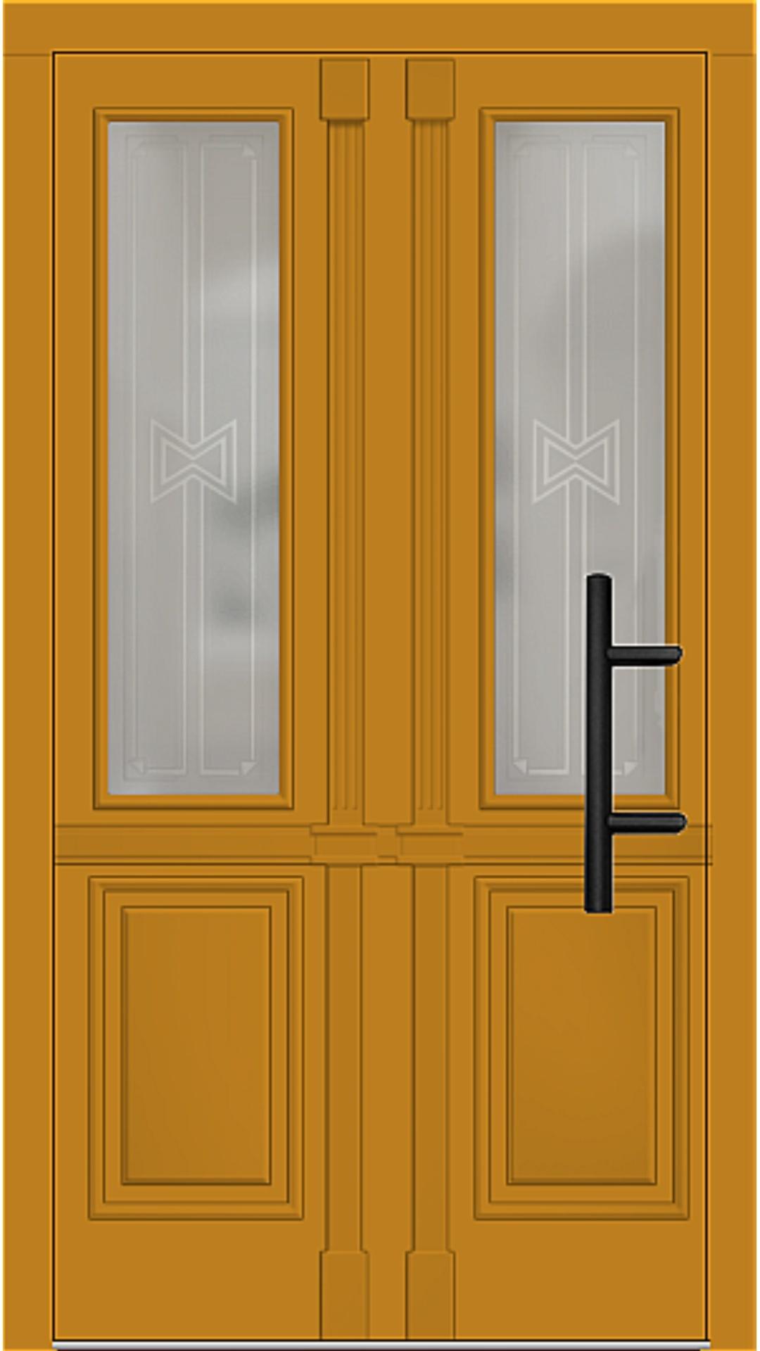 Holz Haustür Modell 7210 honiggelb