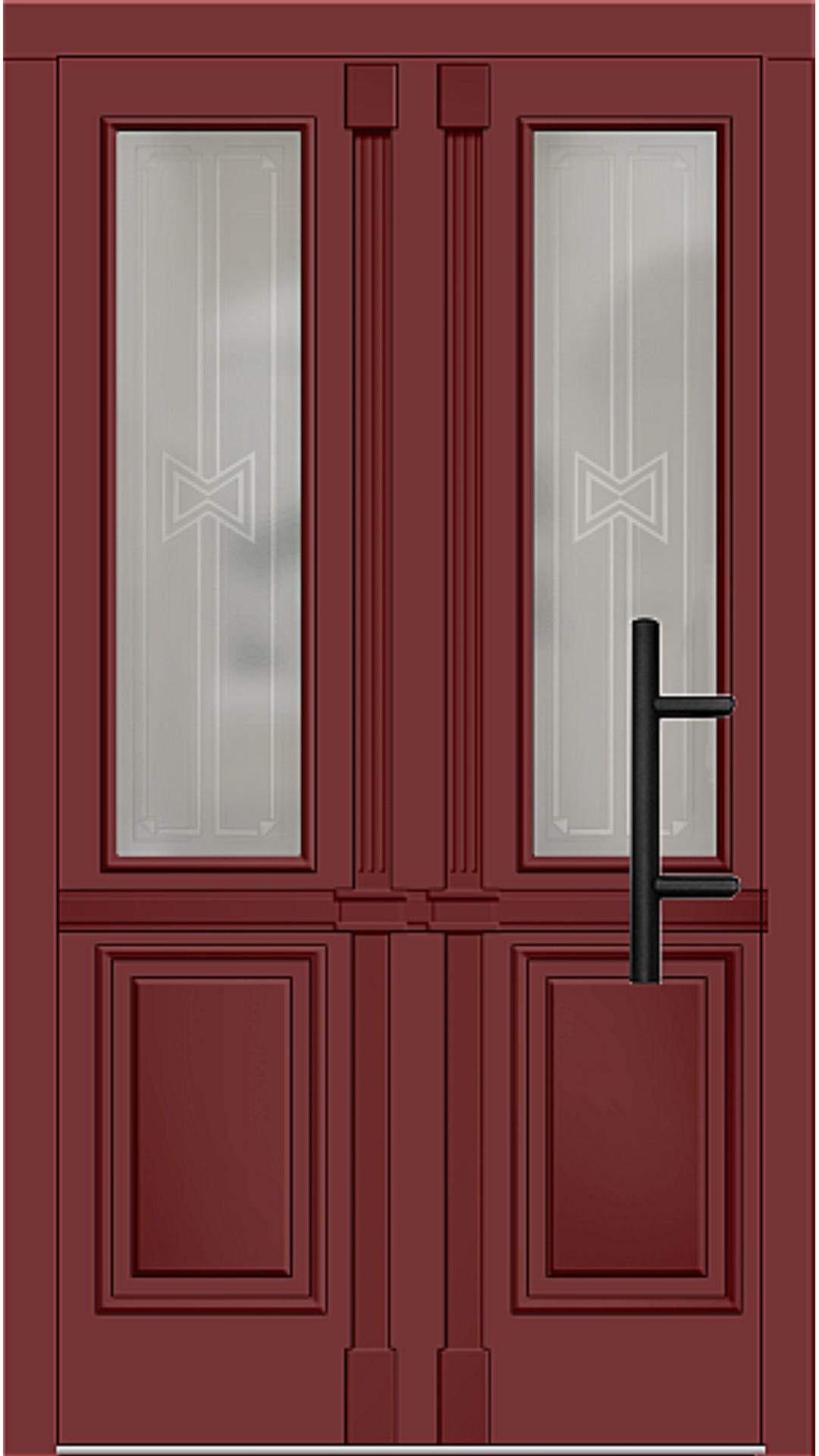 Holz Haustür Modell 7210 rubinrot