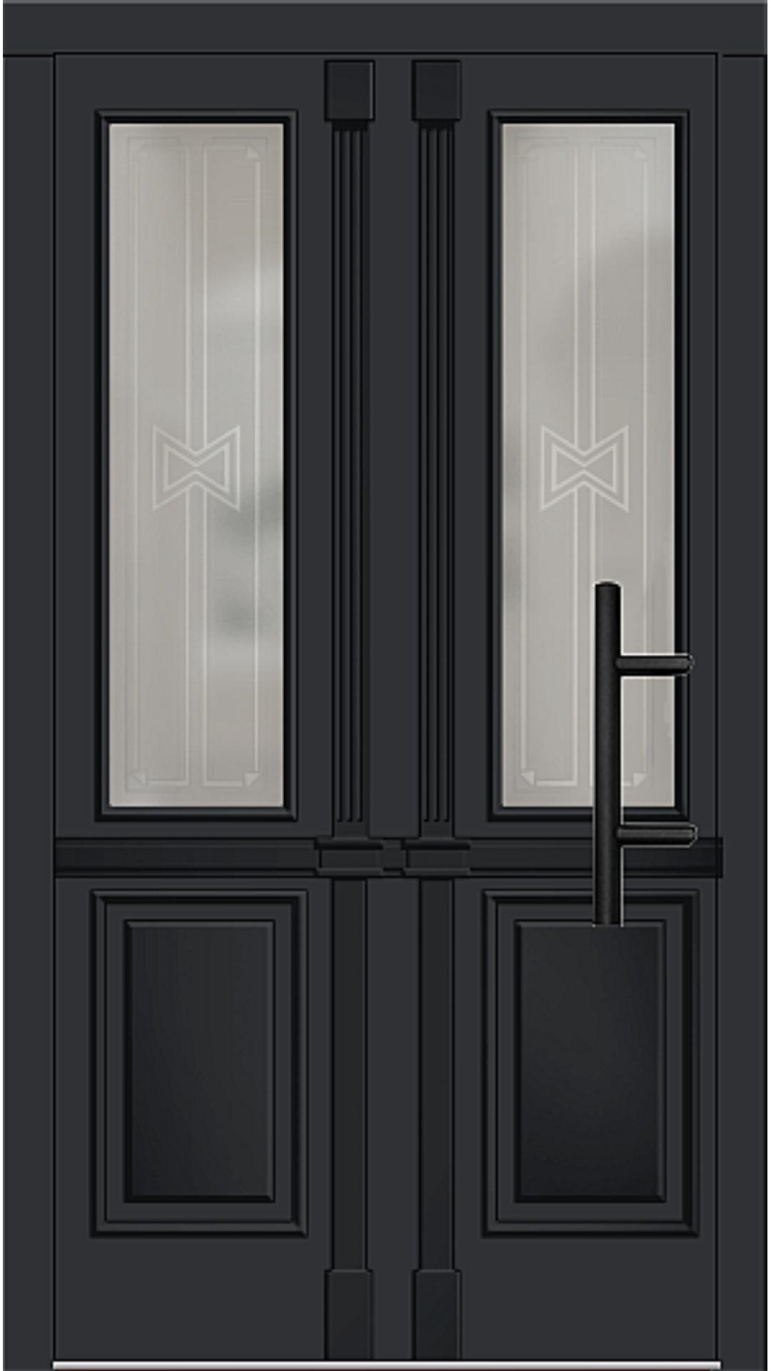 Holz Haustür Modell 7210 schwarz