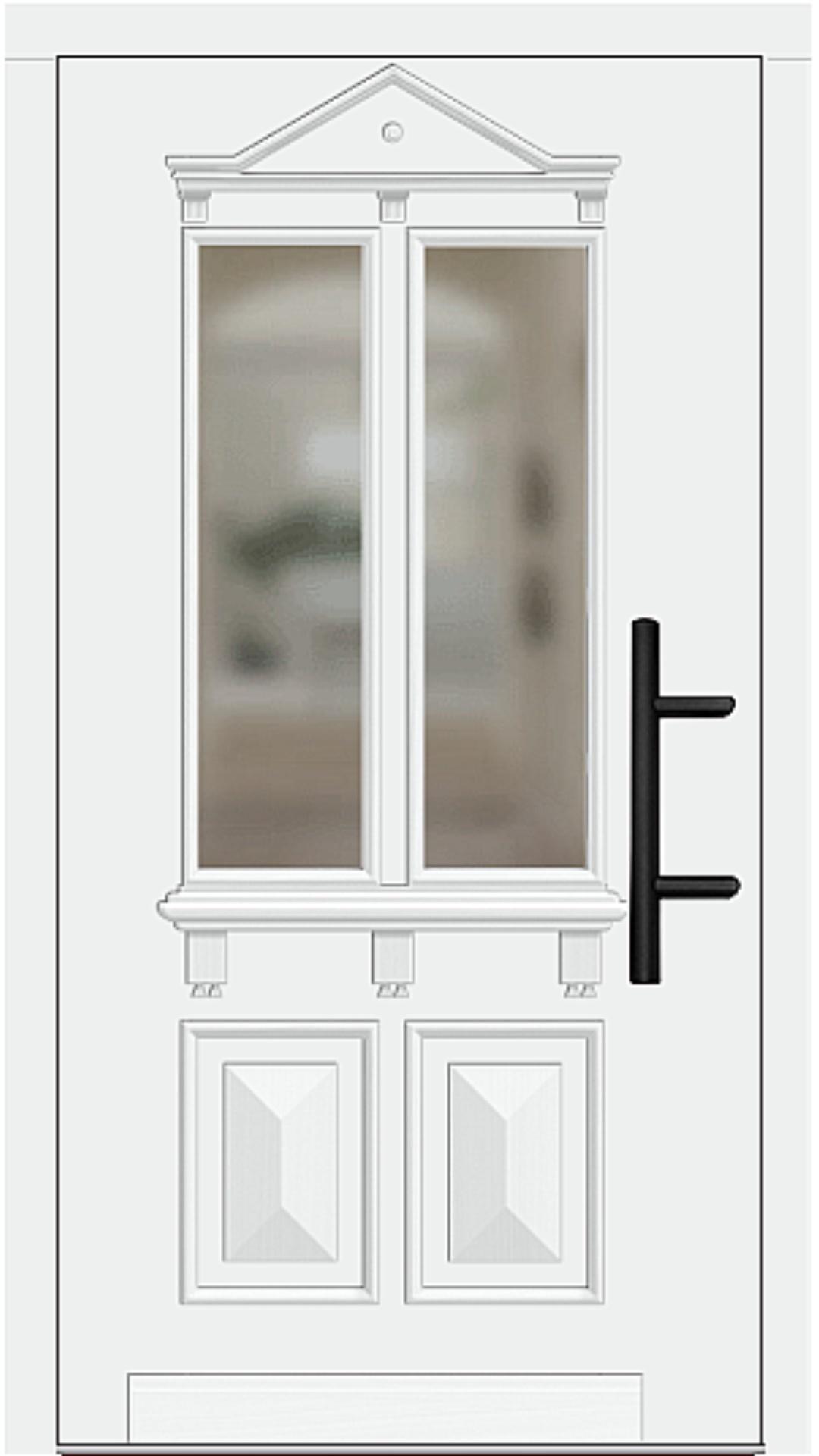 Holz Haustür Modell 7230 weiß