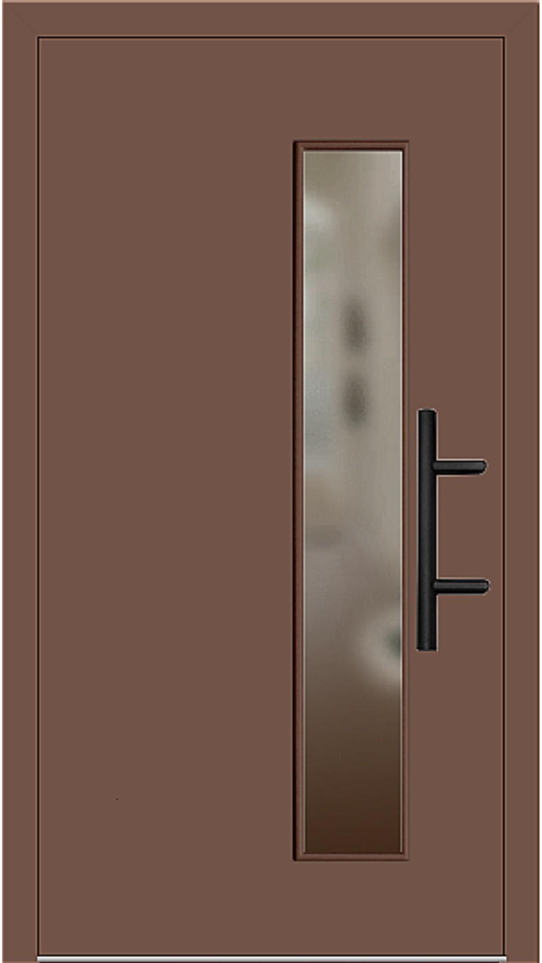 Holz Haustür Modell 8070 lehmbraun
