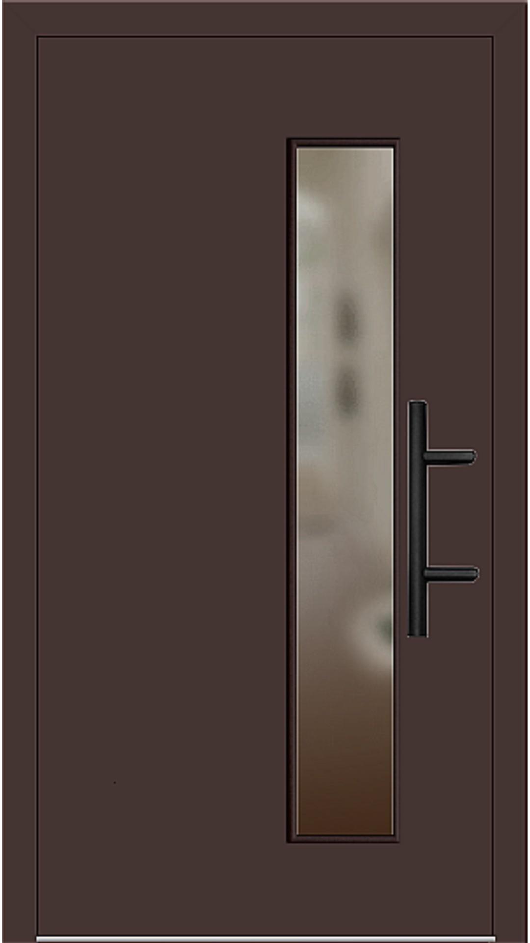 Holz Haustür Modell 8070 mahagonibraun