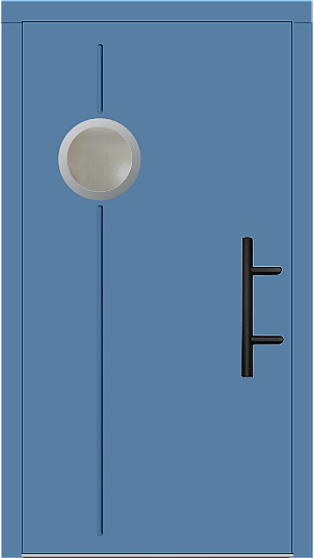 Holz Haustür Modell 8370 lichtblau