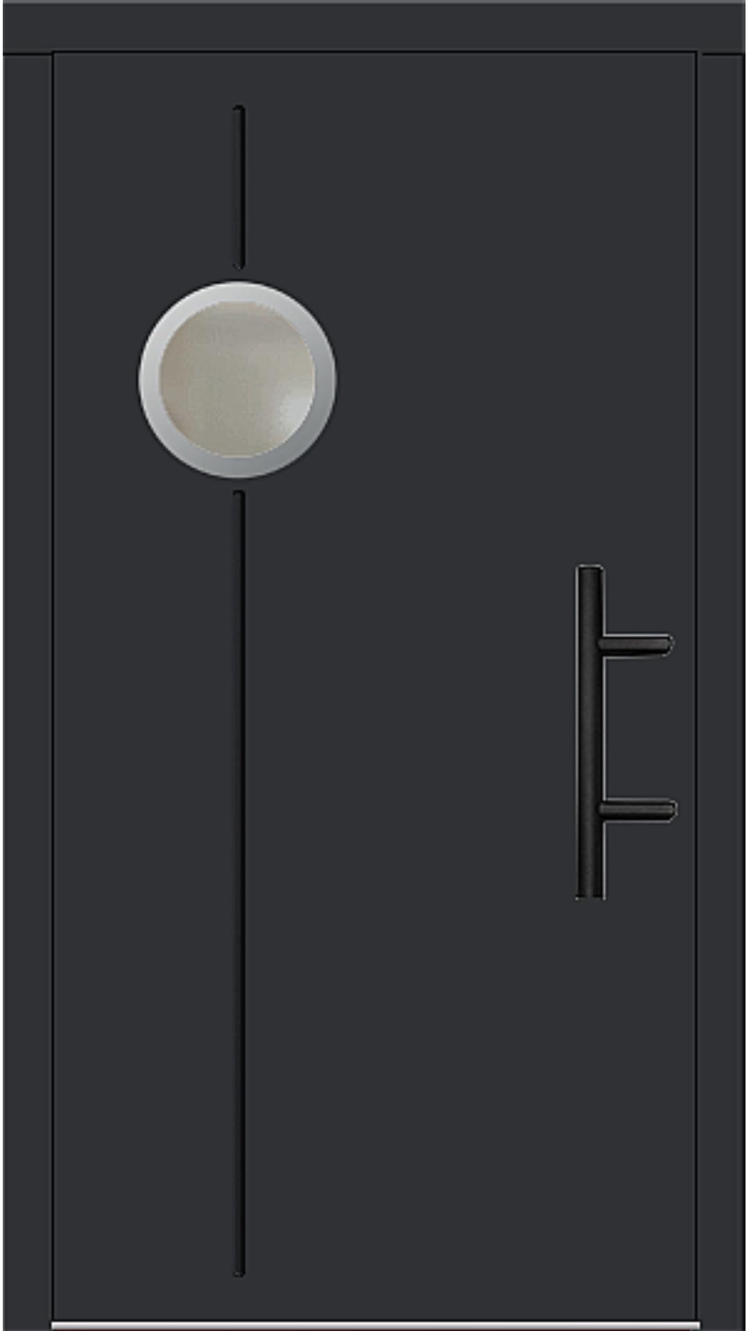 Holz Haustür Modell 8370 schwarz