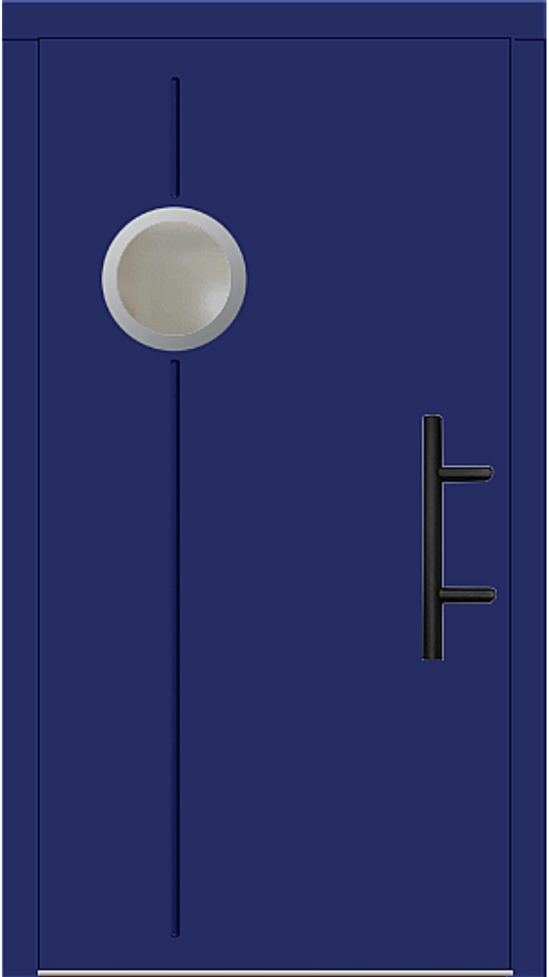 Holz Haustür Modell 8370 ultramarinblau