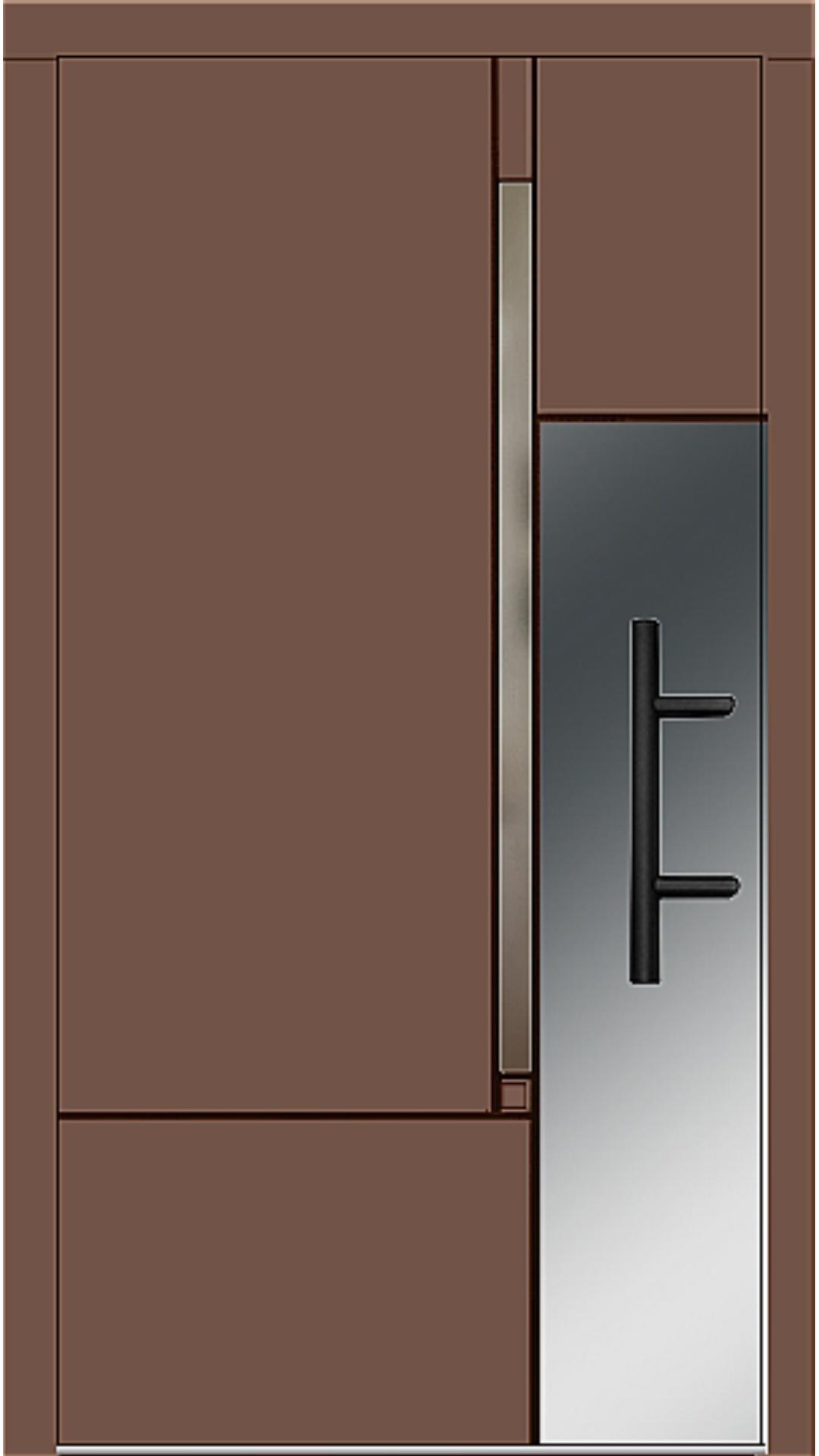 Holz Haustür Modell 8380 lehmbraun