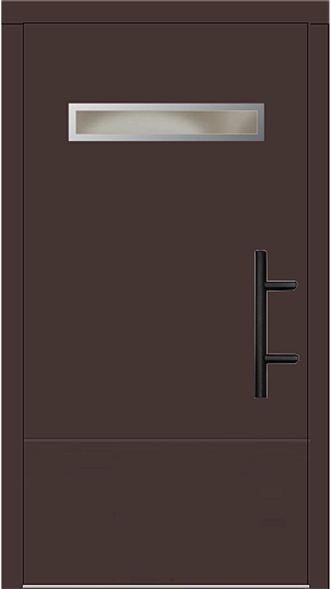 Holz Haustür Modell 8430 mahagonibraun
