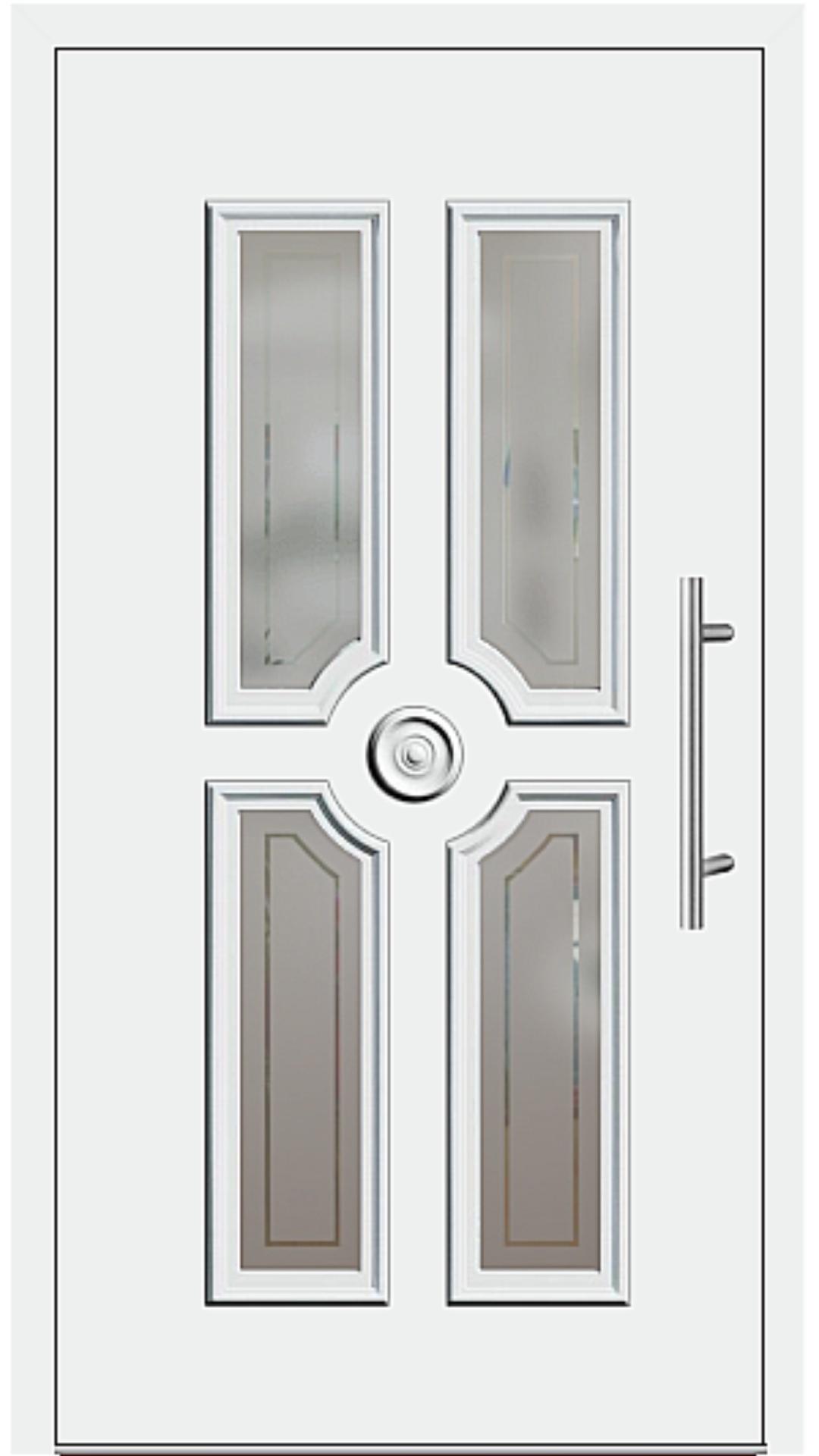 Kunststoff Haustür Modell 208-20 weiß