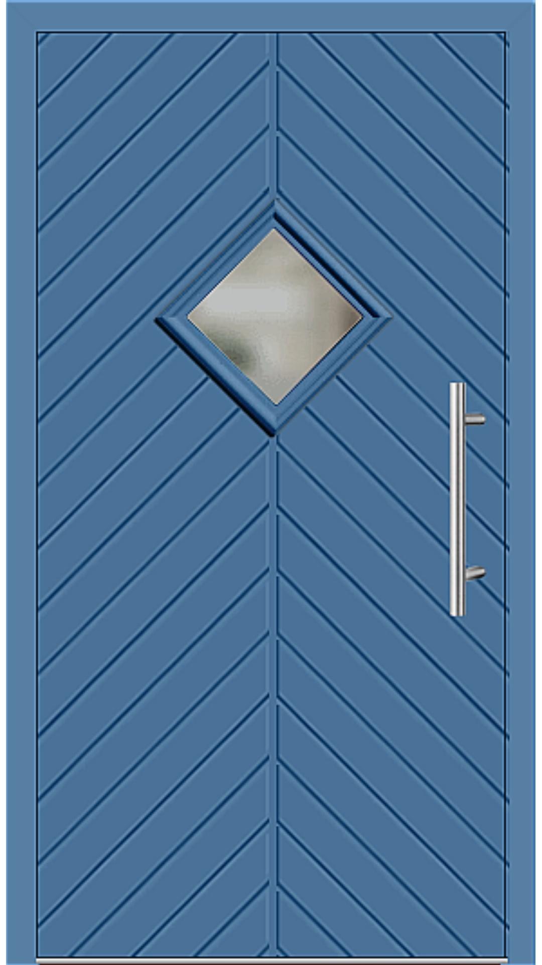 Kunststoff Haustür Modell 23-62 lichtblau