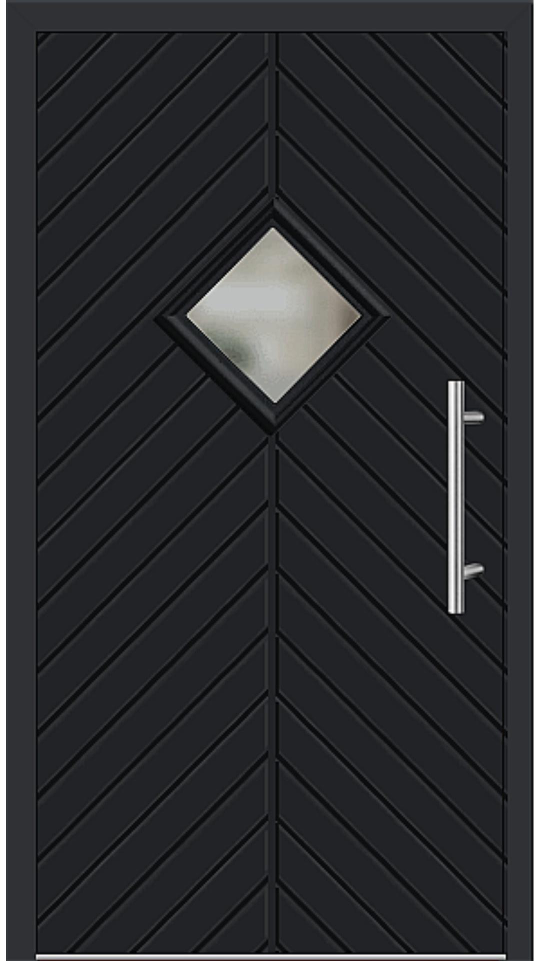 Kunststoff Haustür Modell 23-62 schwarz