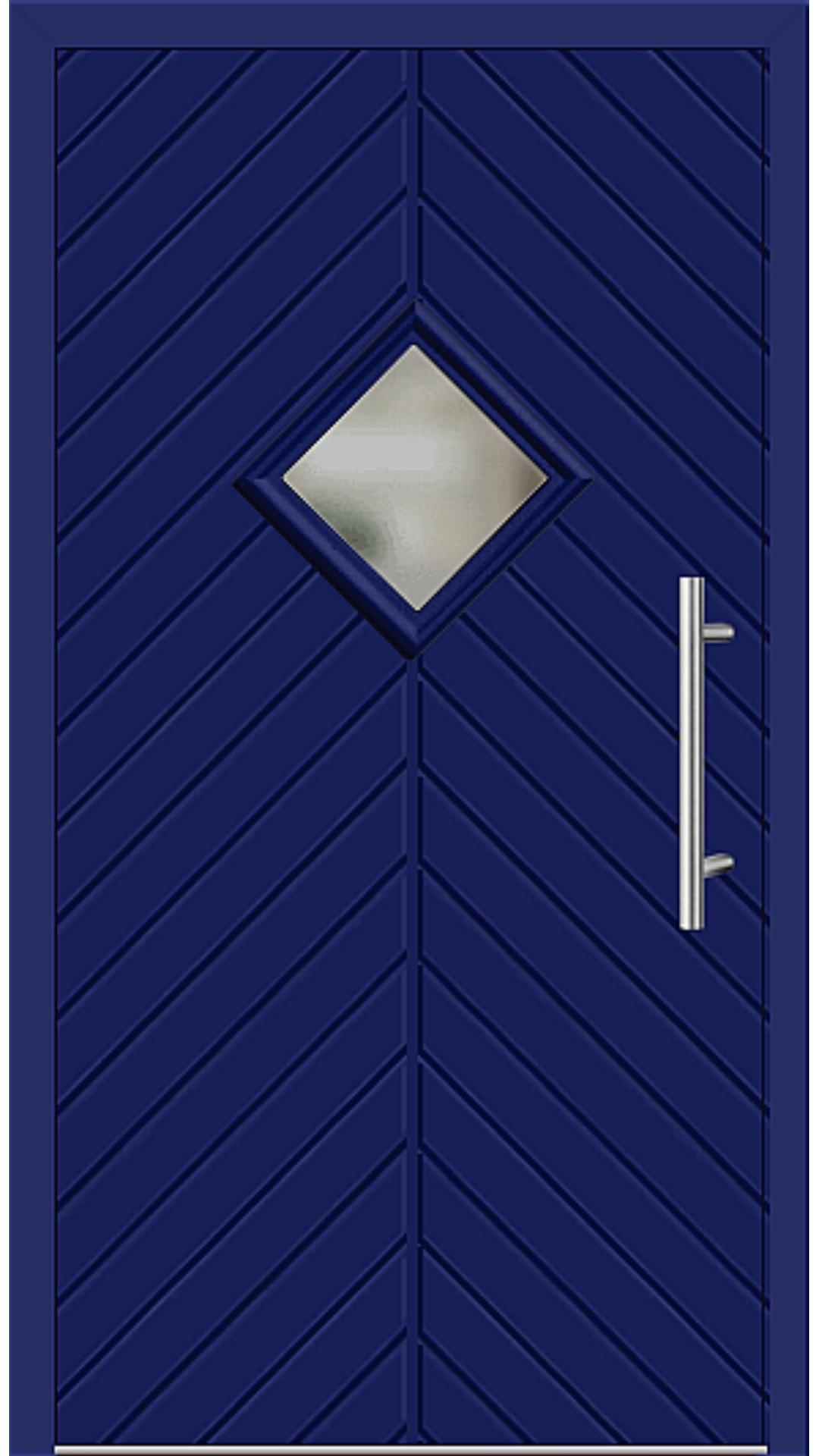 Kunststoff Haustür Modell 23-62 ultramarinblau