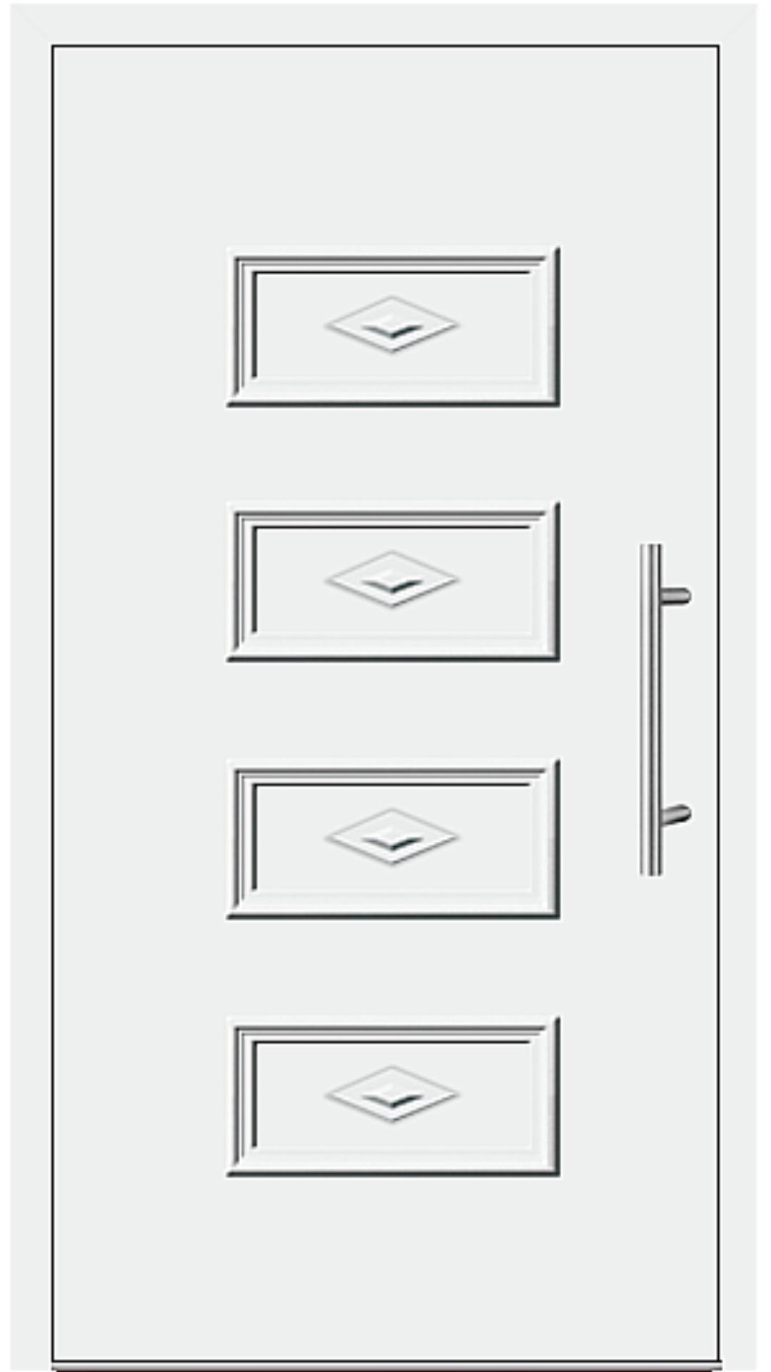 Kunststoff Haustür Modell 341-90 weiß