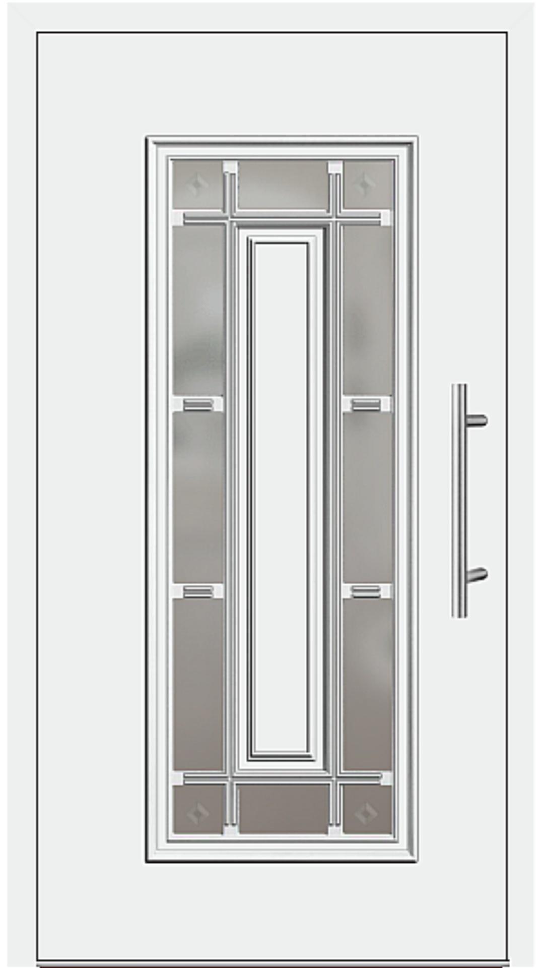Kunststoff Haustür Modell 4150-11 weiß