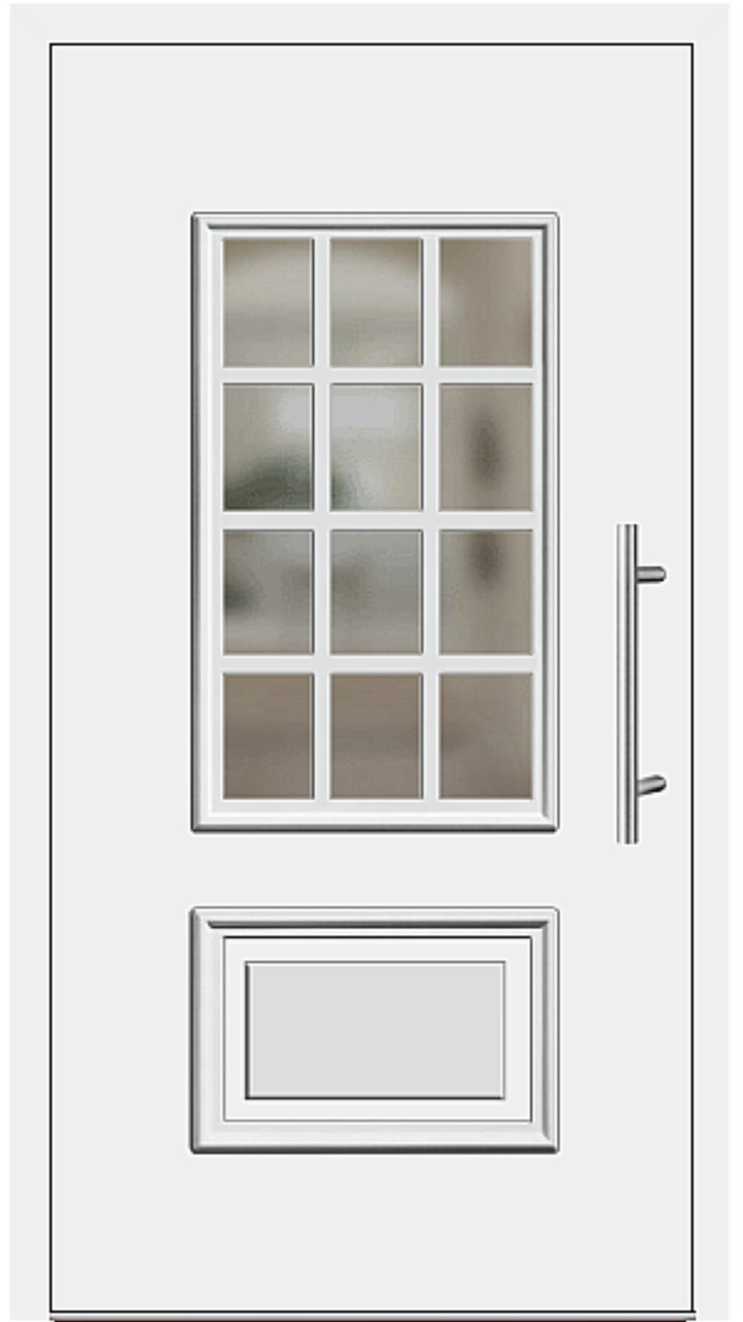 Kunststoff Haustür Modell 418-15 weiß