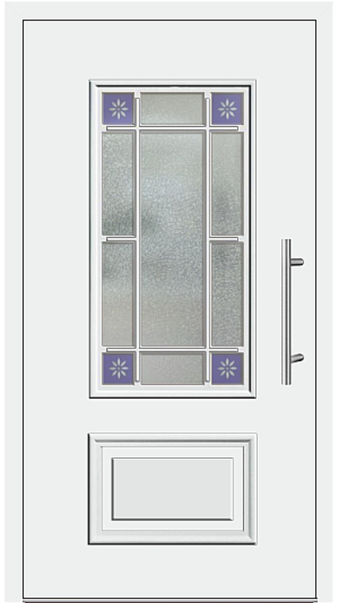Kunststoff Haustür Modell 424-15 weiß