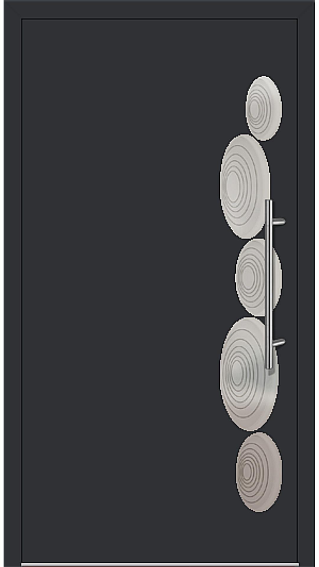 Kunststoff Haustür Modell 6153-40 schwarz