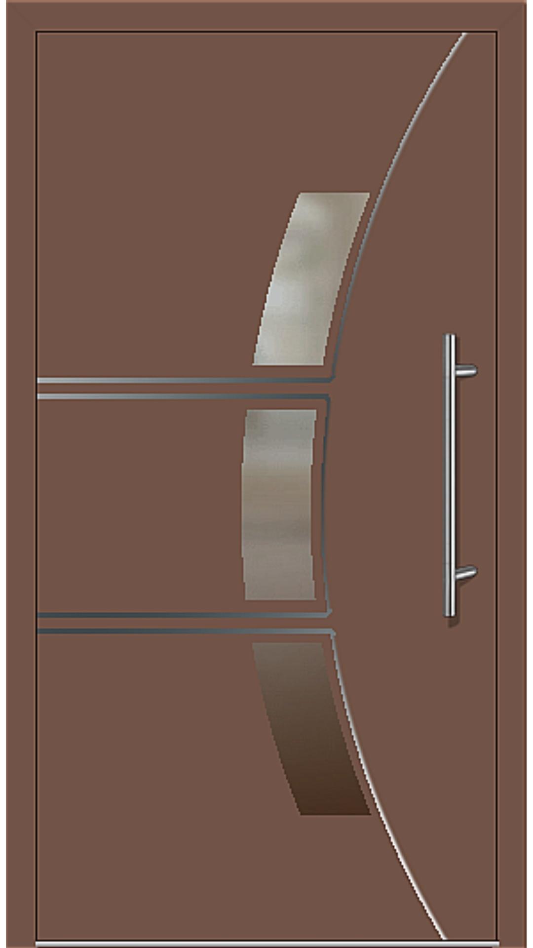 Kunststoff Haustür Modell 6166-58 lehmbraun