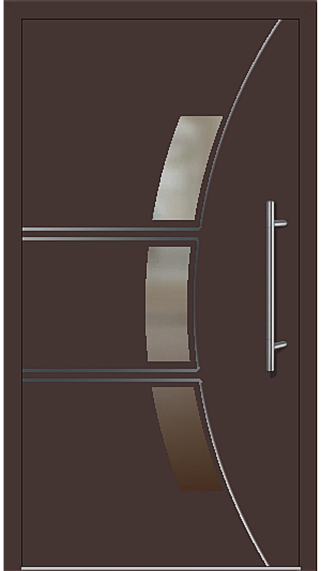 Kunststoff Haustür Modell 6166-58 mahagonibraun