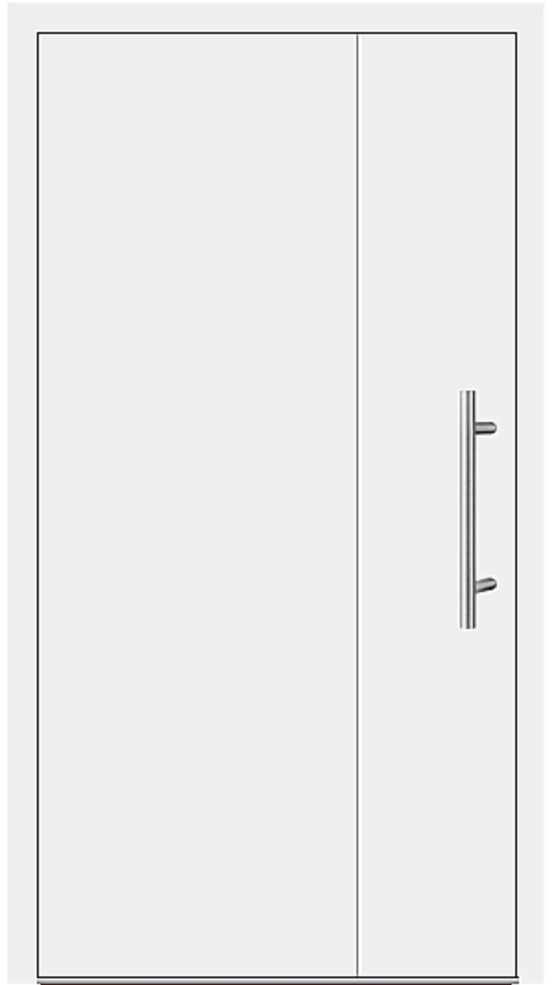 Kunststoff Haustür Modell 6169-98 weiß