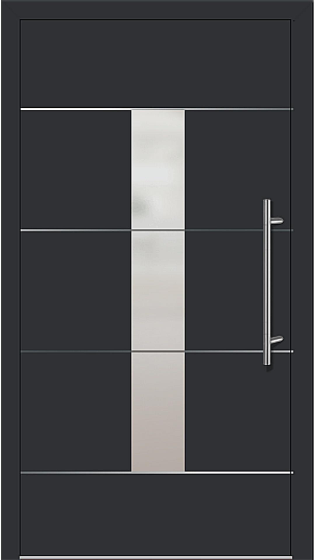 Kunststoff Haustür Modell 6184-54 schwarz