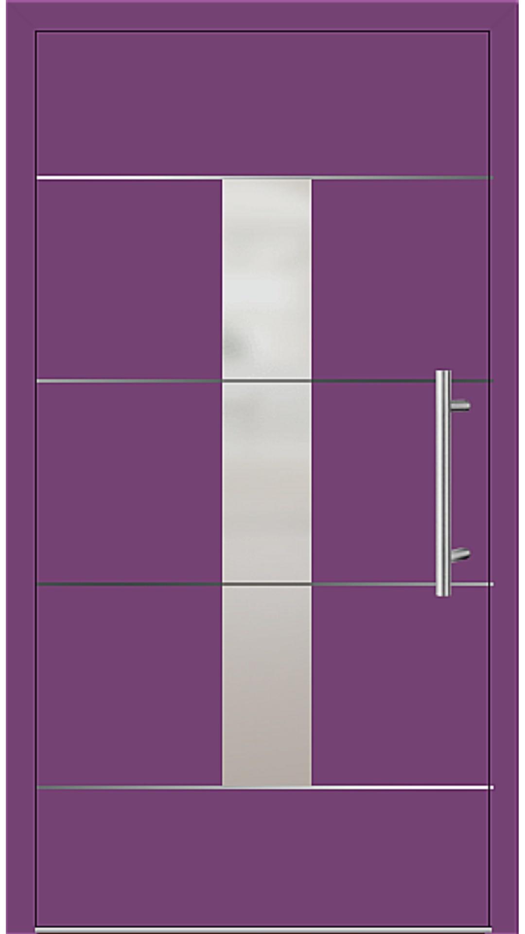 Kunststoff Haustür Modell 6184-54 singalviolett