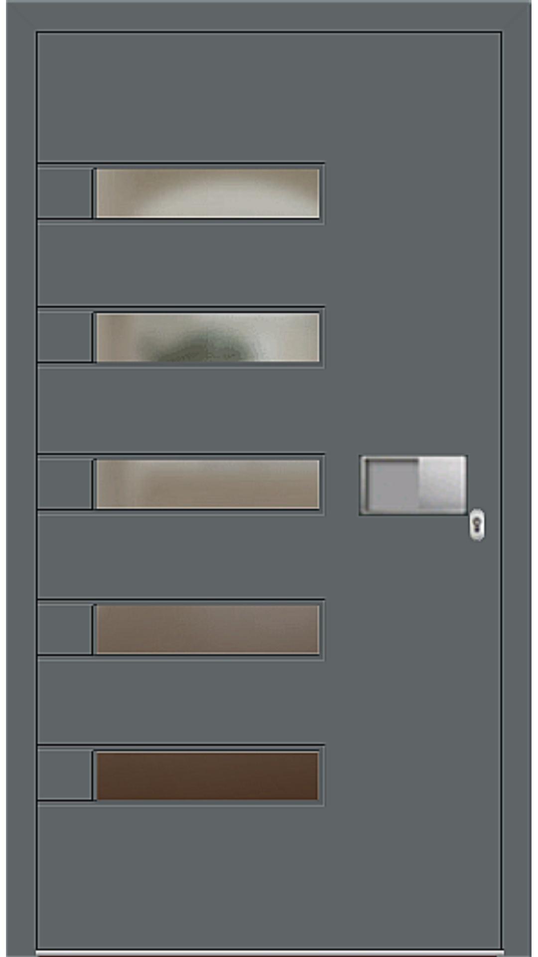 Kunststoff Haustür Modell 6188-52 basaltgrau