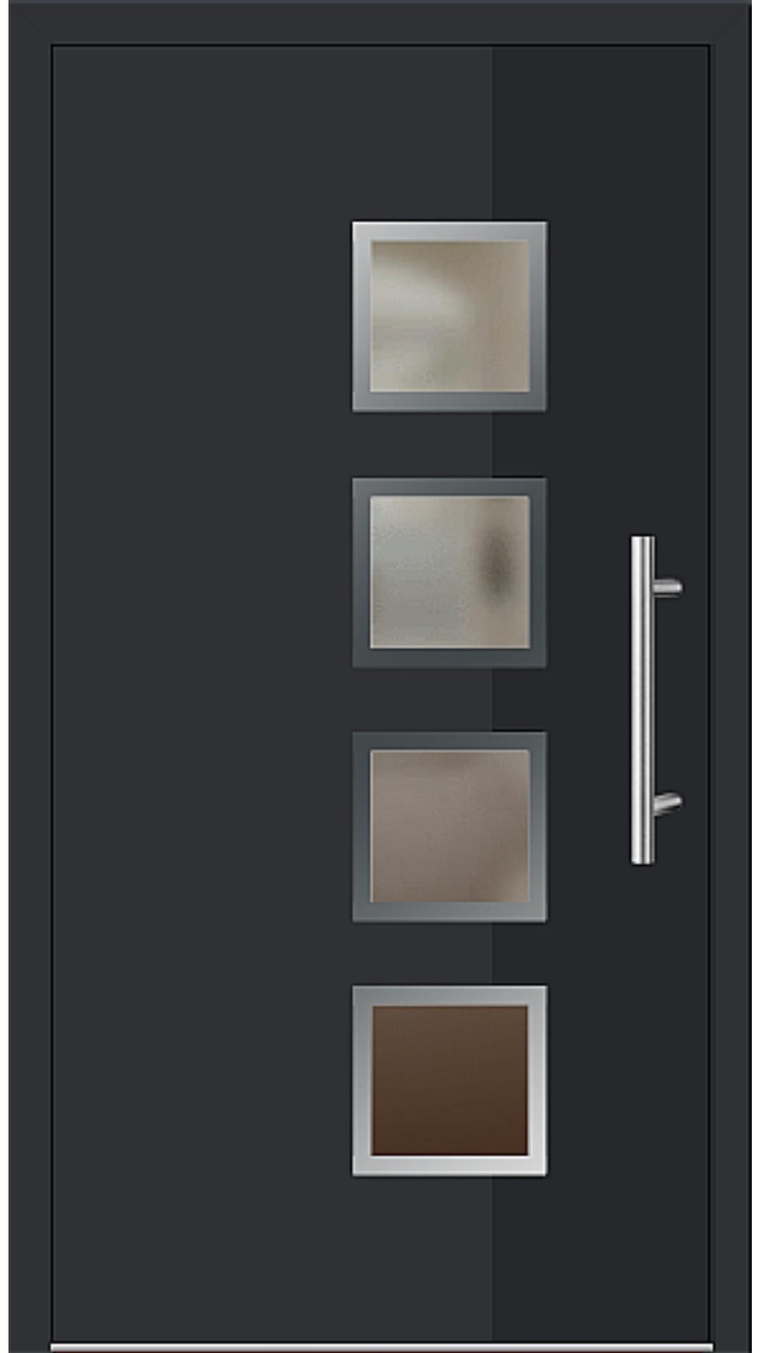 Kunststoff Haustür Modell 6194-78 schwarz