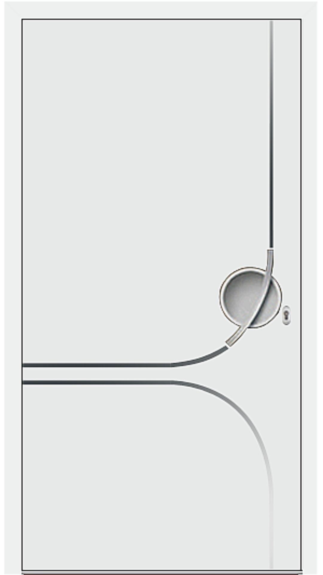 Kunststoff Haustür Modell 6197-93 weiß