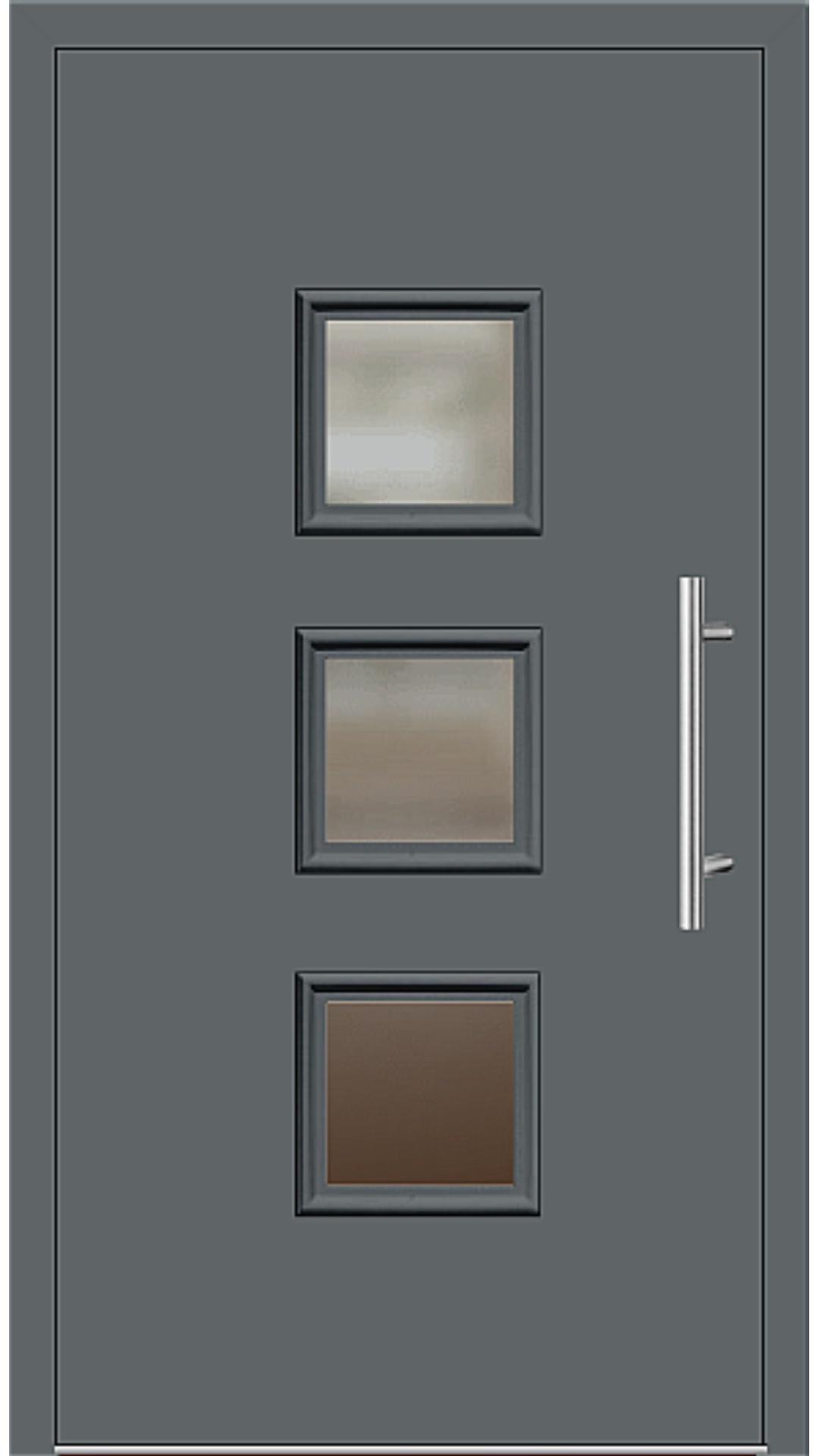 Kunststoff Haustür Modell 6418-60 basaltgrau
