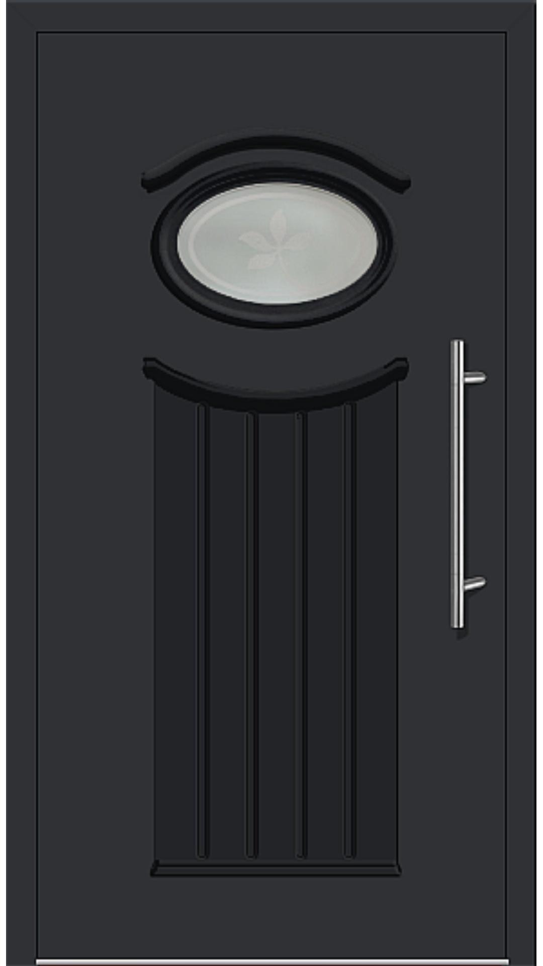 Kunststoff Haustür Modell 6447-11 schwarz