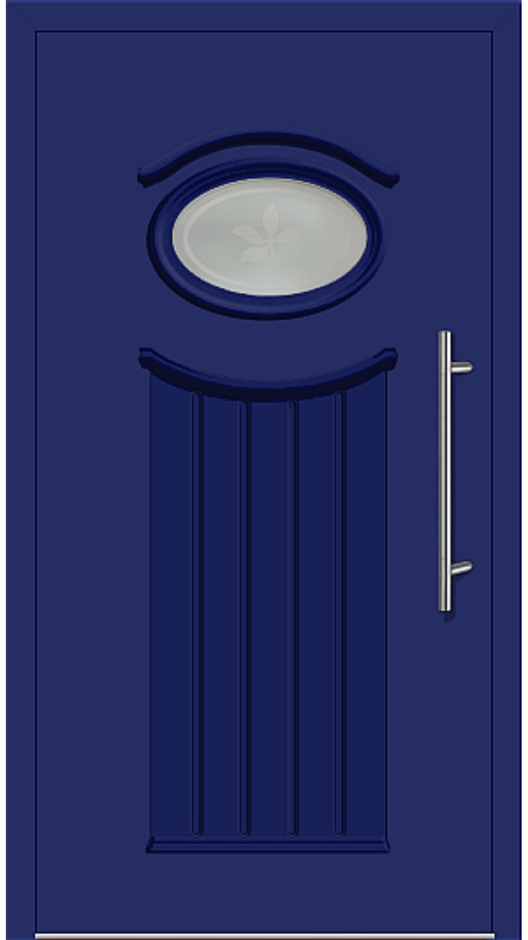 Kunststoff Haustür Modell 6447-11 ultramarinblau