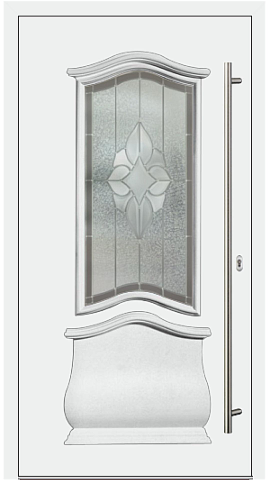 Kunststoff Haustür Modell 6452-15 weiß