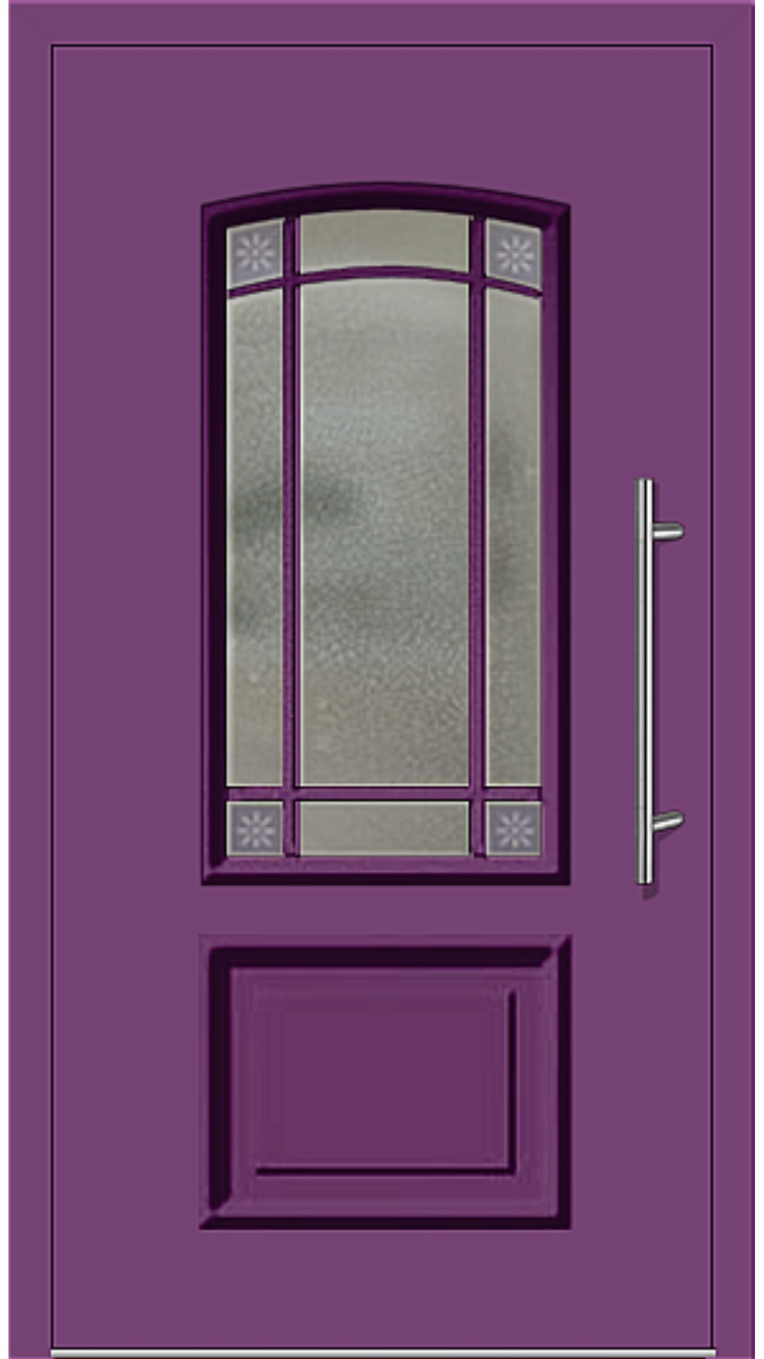 Kunststoff Haustür Modell 6456-15 singalviolett