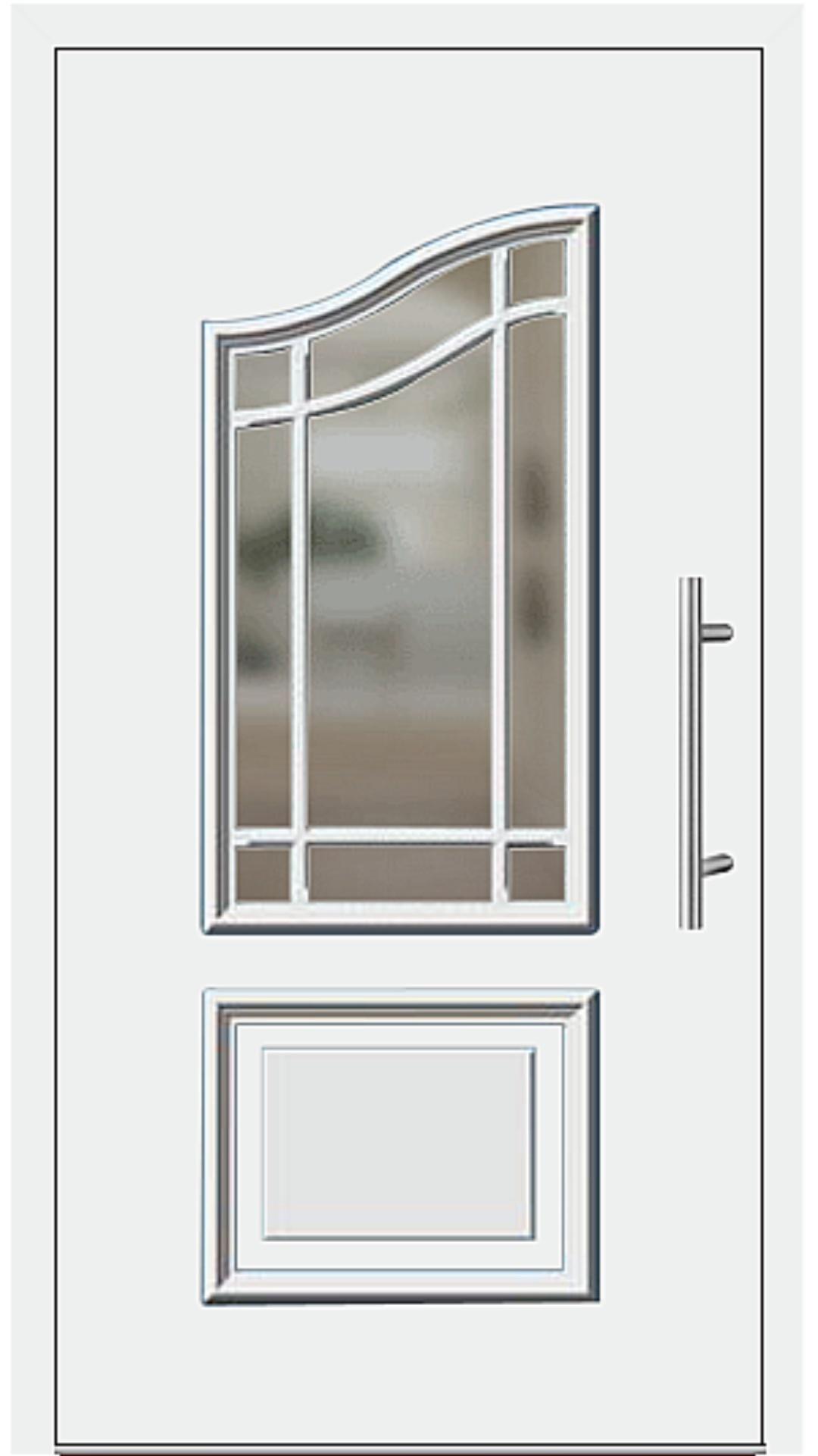 Kunststoff Haustür Modell 6457-15 weiß