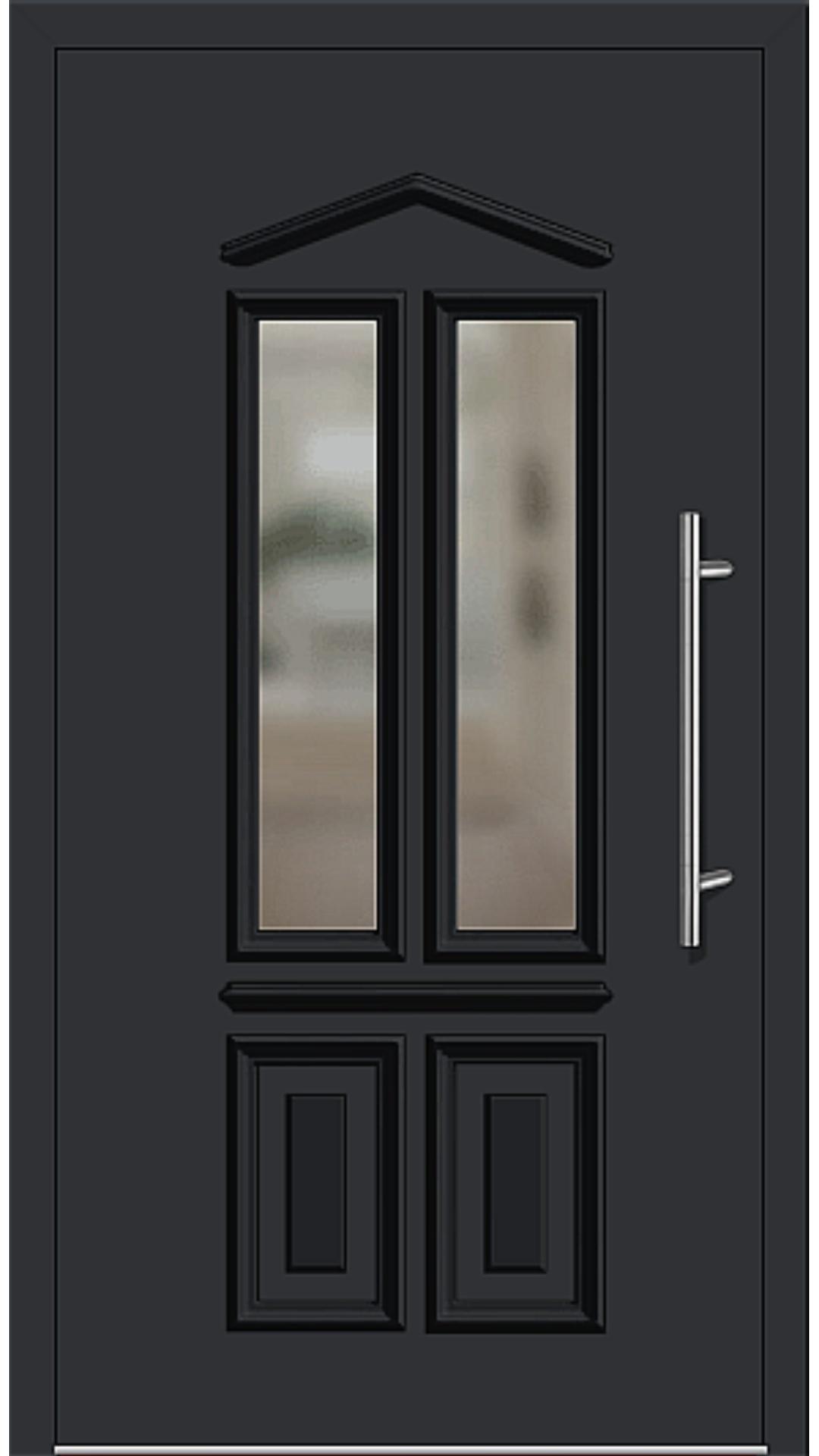 Kunststoff Haustür Modell 6460-10 schwarz