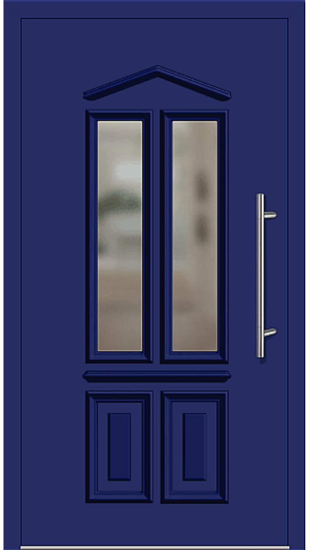 Kunststoff Haustür Modell 6460-10 ultramarinblau