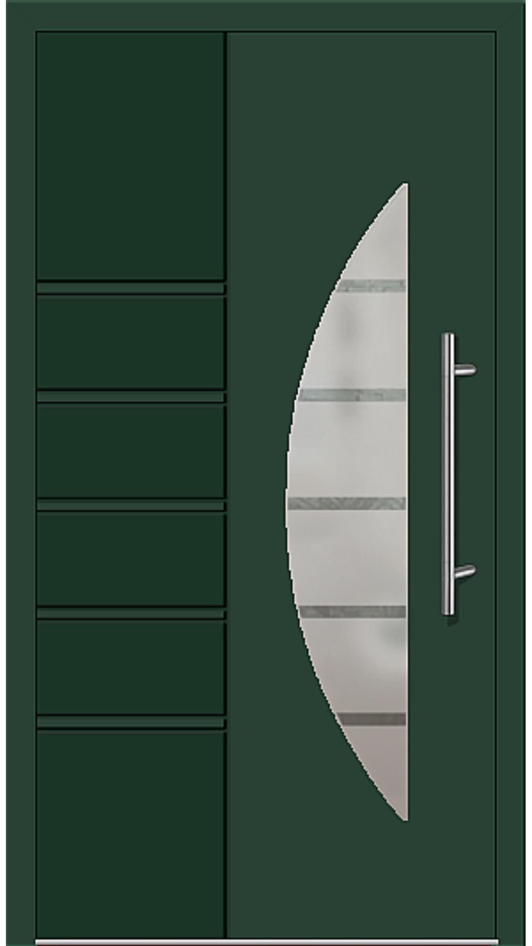 Kunststoff Haustür Modell 6514-52 moosgrün