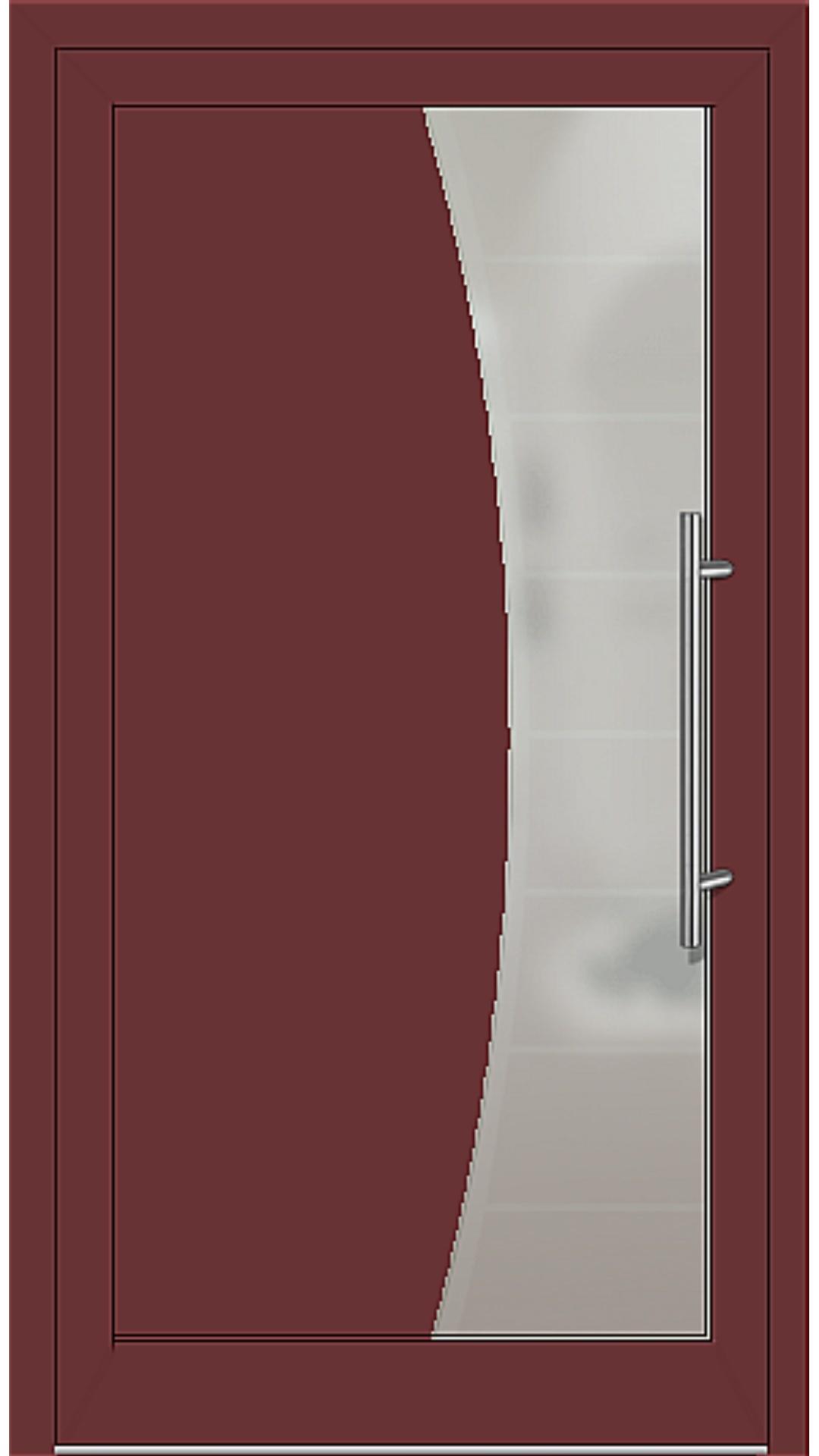Kunststoff Haustür Modell 6516-50 braunrot