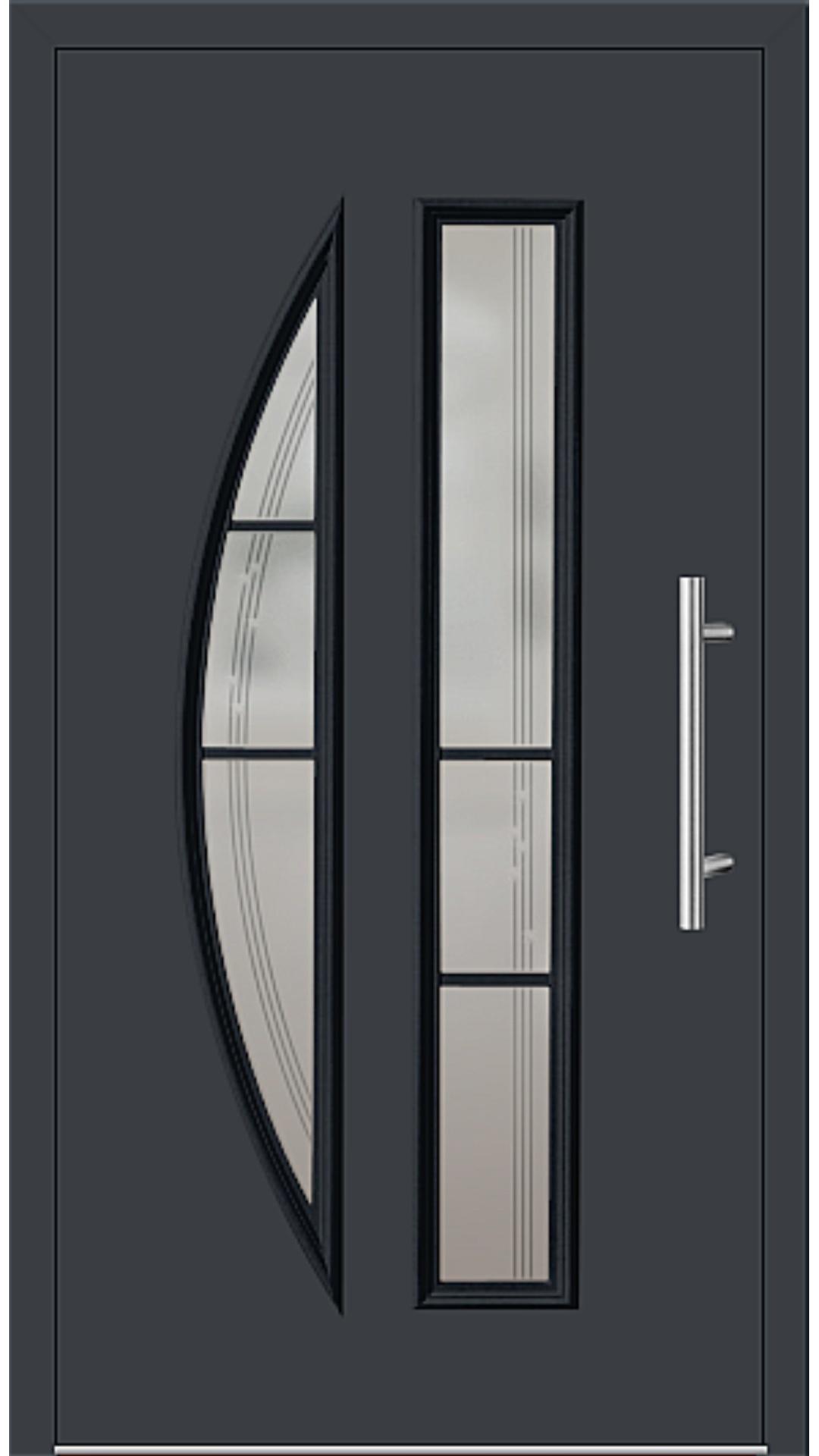 Kunststoff Haustür Modell 6525-65 anthrazitgrau