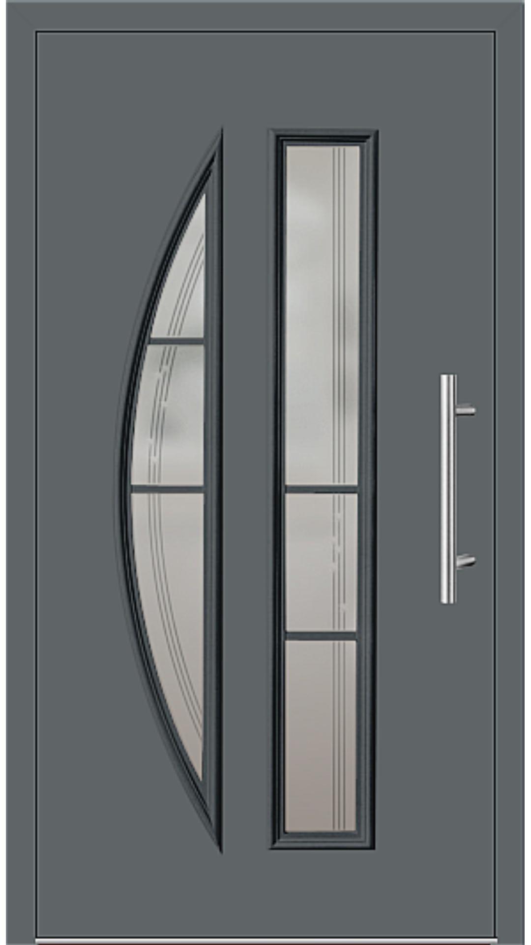 Kunststoff Haustür Modell 6525-65 basaltgrau