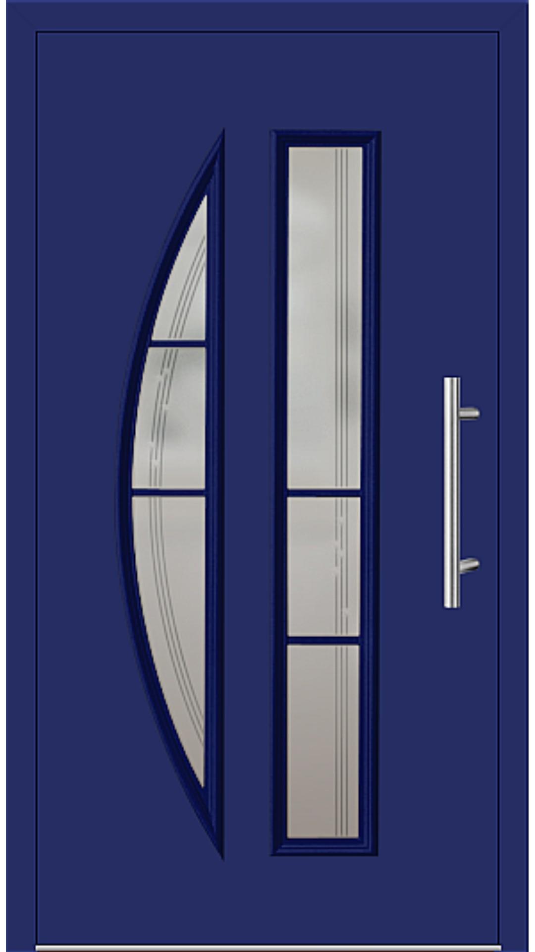 Kunststoff Haustür Modell 6525-65 ultramarinblau