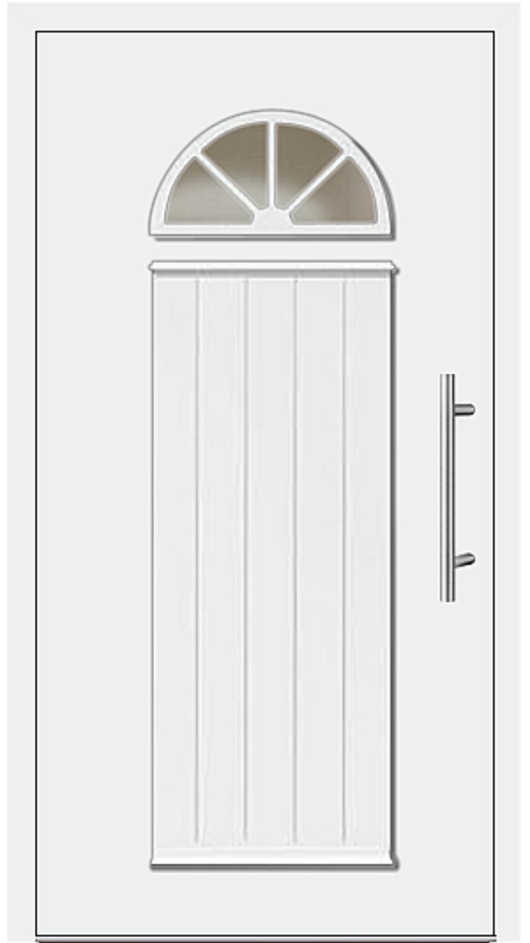 Kunststoff Haustür Modell 6541-11 weiß
