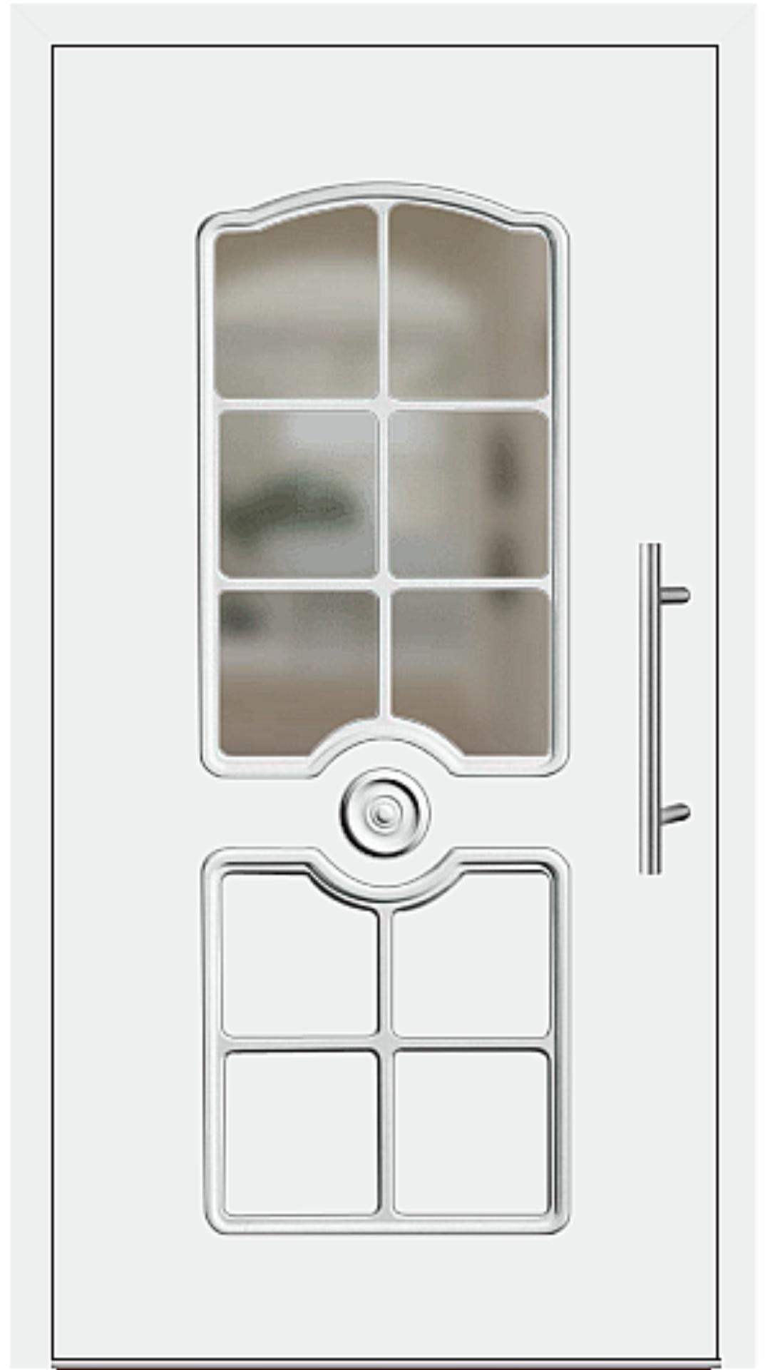 Kunststoff Haustür Modell 6555-15 weiß