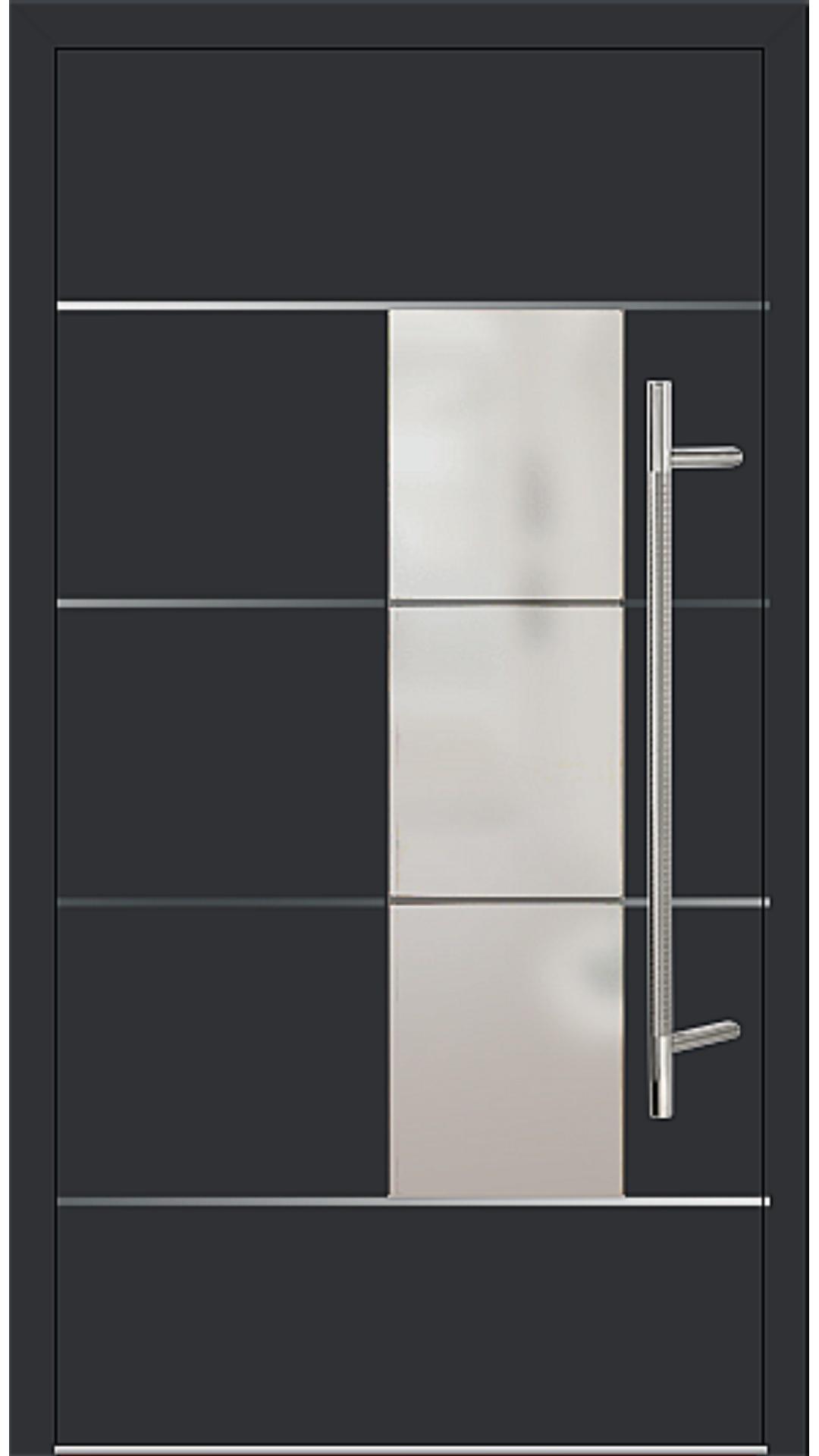Kunststoff Haustür Modell 6878-54 schwarz