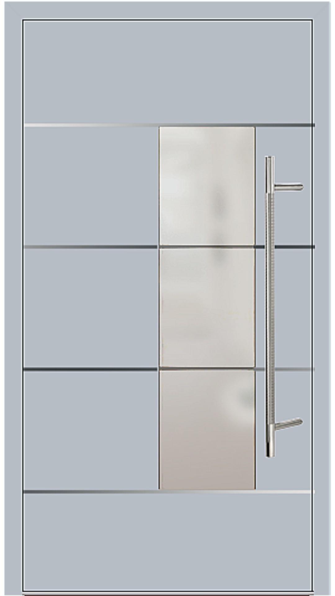 Kunststoff Haustür Modell 6878-54 silbergrau