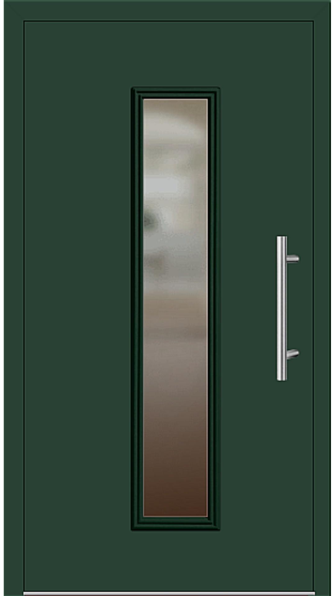 Kunststoff Haustür Modell 6921-60 moosgrün
